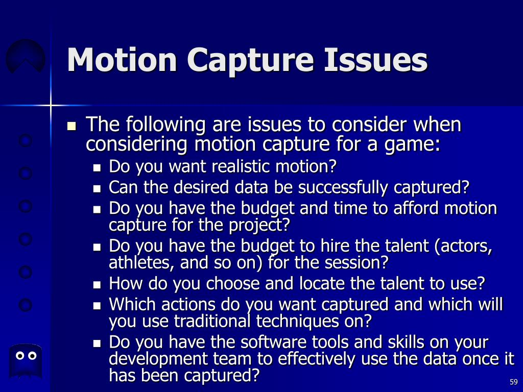 Motion Capture Issues