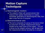 motion capture techniques55