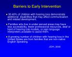 barriers to early intervention