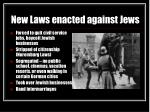 new laws enacted against jews