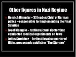 other figures in nazi regime