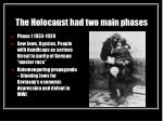the holocaust had two main phases