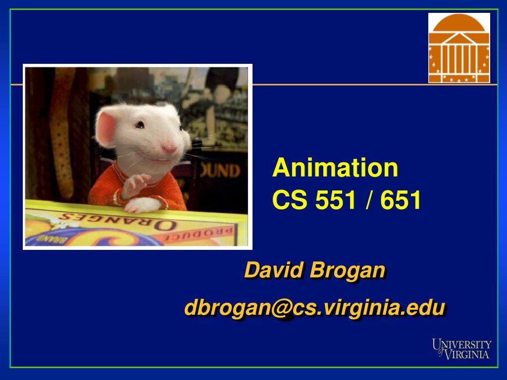 animation cs 551 651 l.