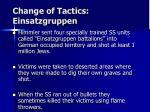change of tactics einsatzgruppen