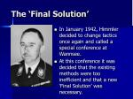 the final solution58
