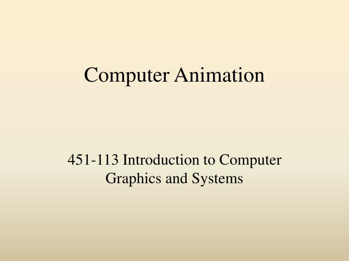 computer animation n.