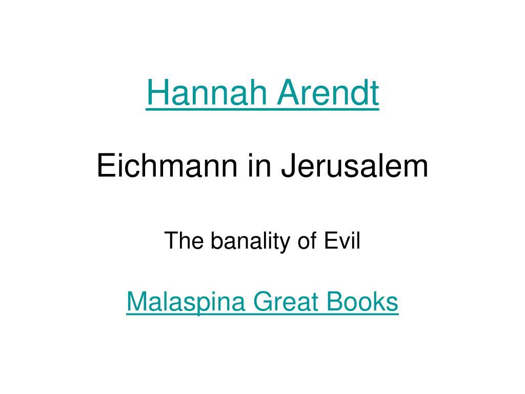 eichmann in jerusalem l.