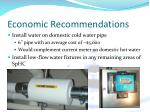 economic recommendations