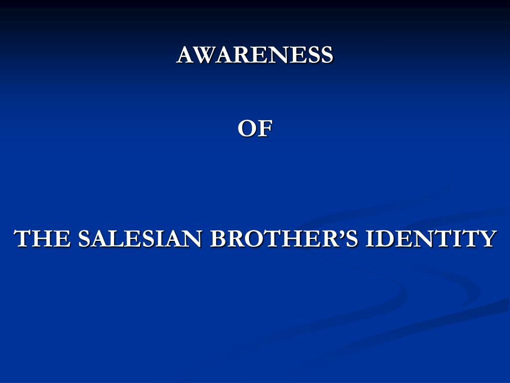 awareness of the salesian brother s identity l.