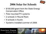 2006 solar for schools