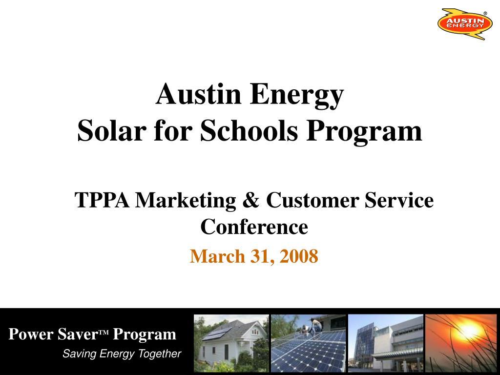austin energy solar for schools program l.