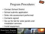 program procedures