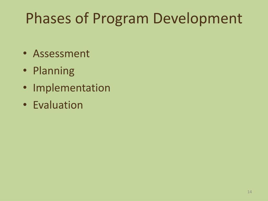 Phases of Program Development
