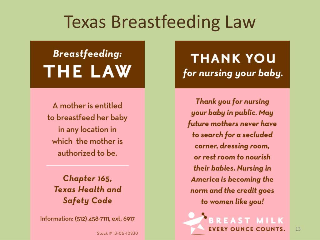 Texas Breastfeeding Law