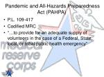 pandemic and all hazards preparedness act pahpa