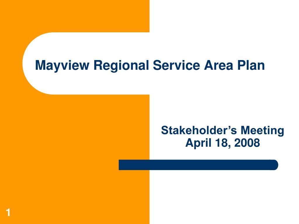mayview regional service area plan l.