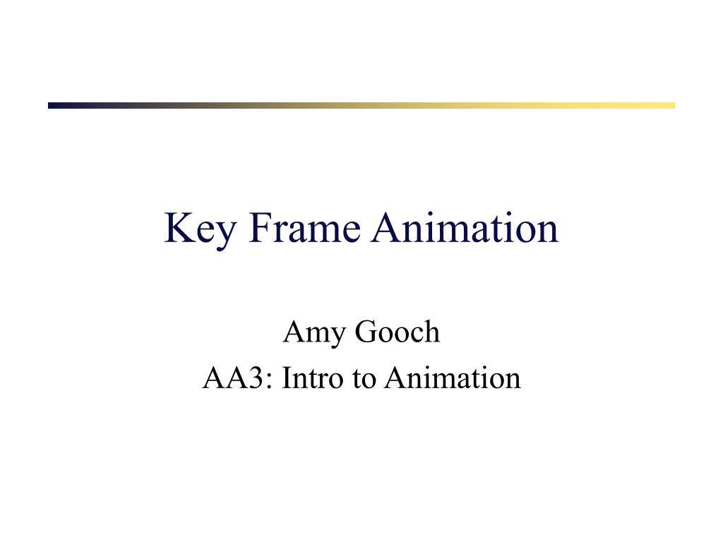 key frame animation l.