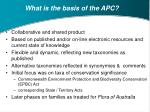 what is the basis of the apc