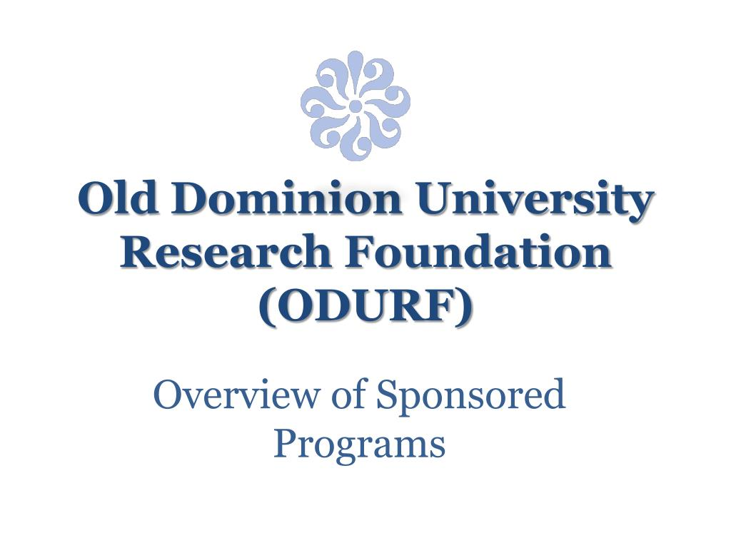 old dominion university research foundation odurf l.