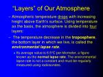 layers of our atmosphere