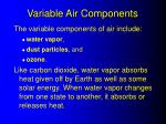 variable air components