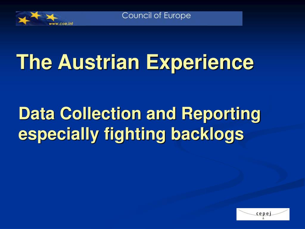 the austrian experience l.