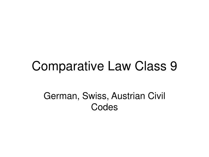 comparative law class 9 n.