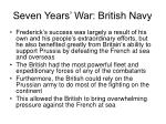 seven years war british navy