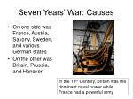 seven years war causes5