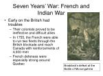 seven years war french and indian war24