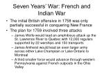 seven years war french and indian war25