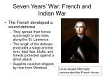 seven years war french and indian war28