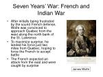 seven years war french and indian war29