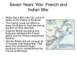 seven years war french and indian war30