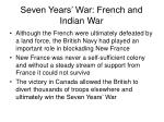 seven years war french and indian war31