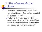 1 the influence of other cultures