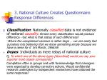 3 national culture creates questionnaire response differences