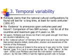 3 temporal variability