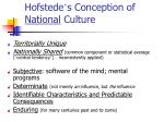hofstede s conception of national culture