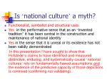 is national culture a myth