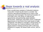 steps towards a real analysis