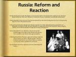 russia reform and reaction