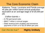 the core economic claim
