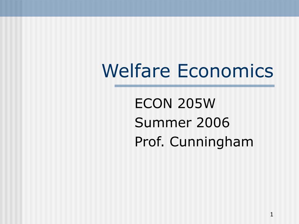 welfare economics l.