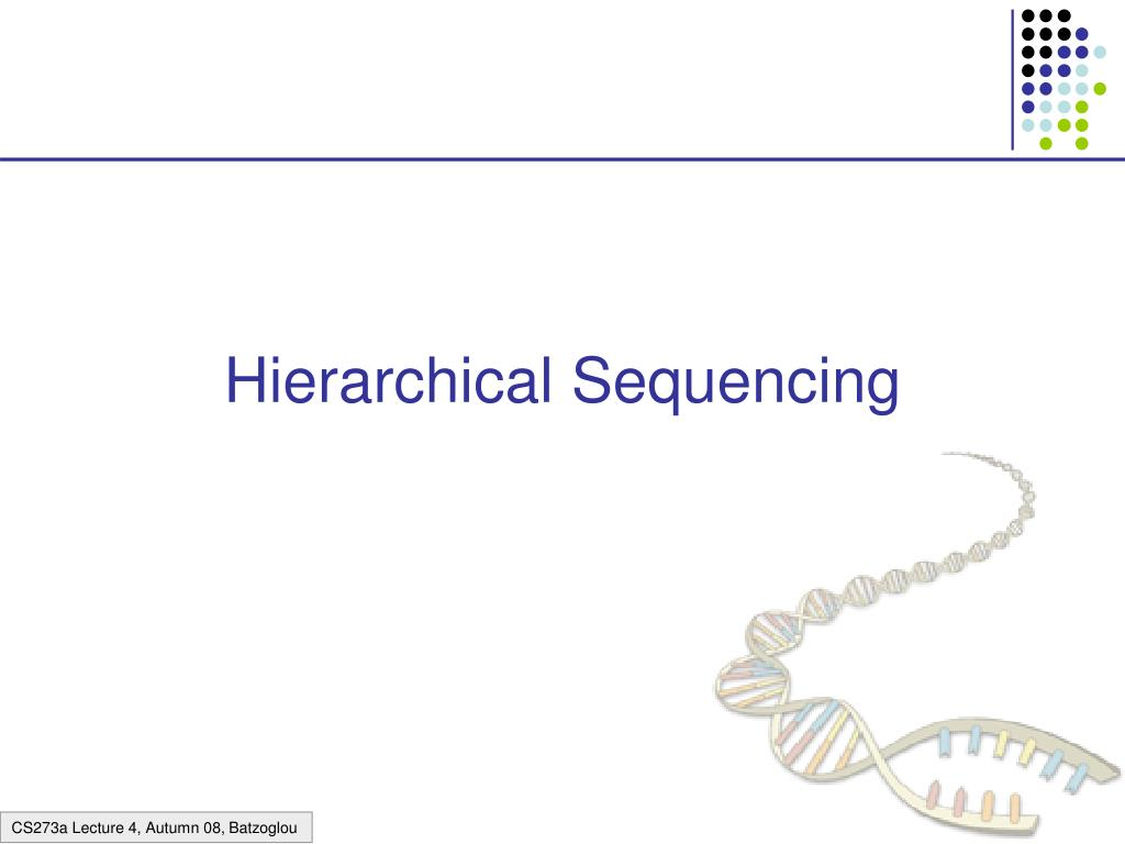 hierarchical sequencing l.
