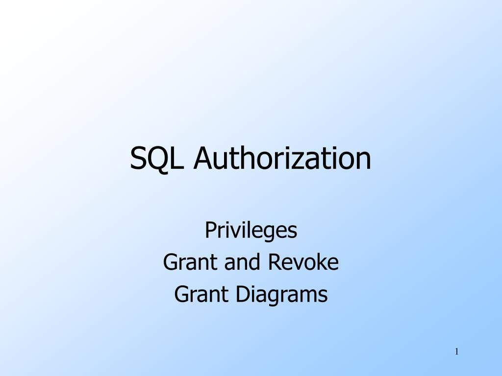 sql authorization l.