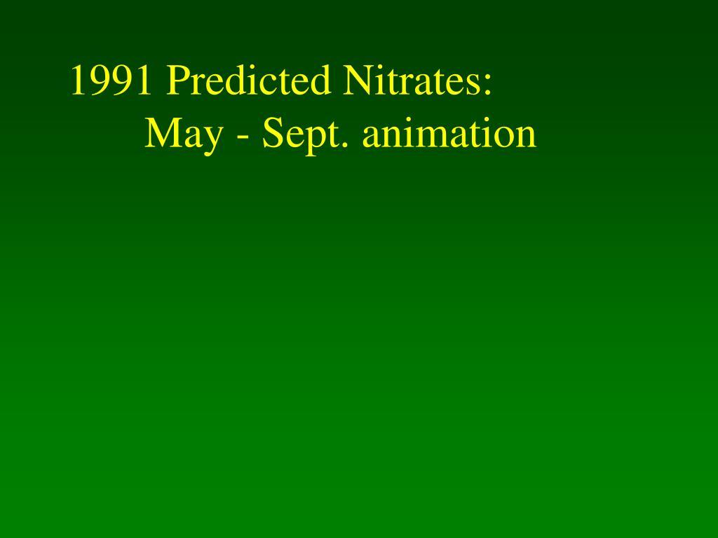 1991 Predicted Nitrates: