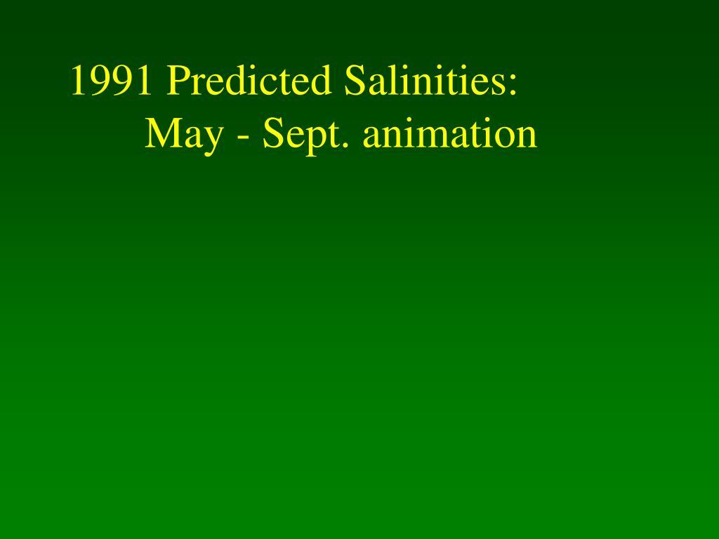 1991 Predicted Salinities: