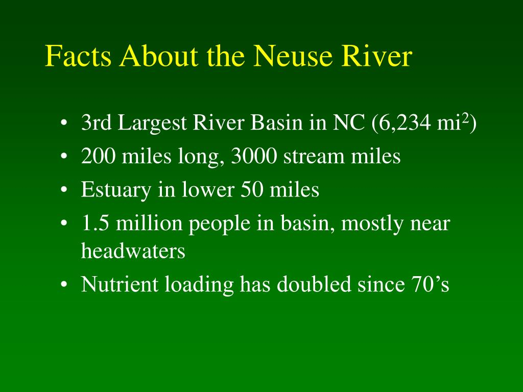 Facts About the Neuse River