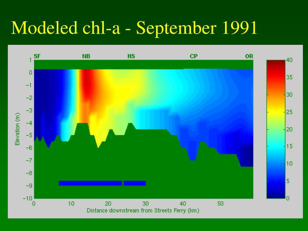 Modeled chl-a - September 1991